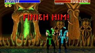 Ultimate Mortal Kombat 3 (Genesis) - Longplay as Reptile
