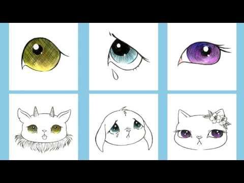 Cartoon Style Eyes Drawing Tutorial With Flavia Chan Youtube