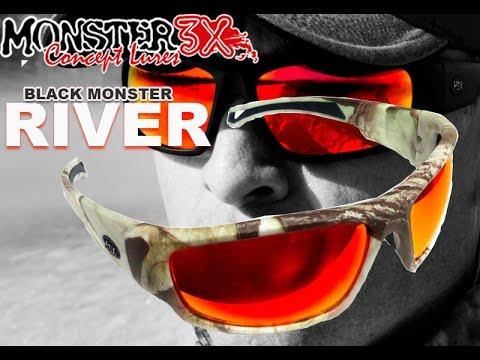 c682d71bc Óculos Para Pesca Monster 3x Modelo River Vermelho - YouTube