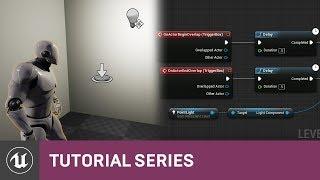 مقدمة إلى المخططات: تبديل الضوء مع مستوى BP | 03 | v4.8 سلسلة دروس | محرك غير واقعي