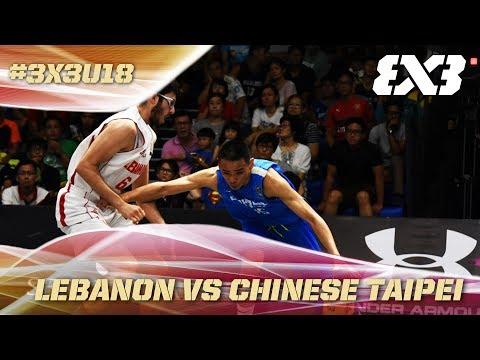 Chinese Taipei with a narrow Semi-Final victory over Lebanon - Full Game - Asia Cup U18 - FIBA 3x3