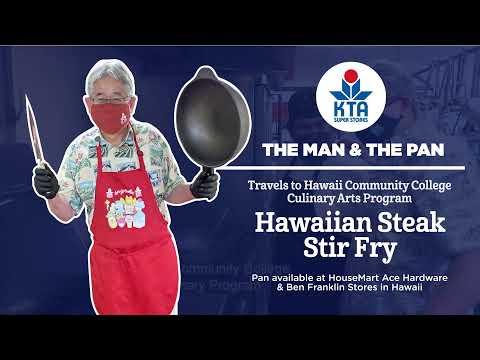 The Man & The Pan travels to Hawai'i Community College - Culinary Arts! - Hawaiian Steak Stir Fry