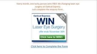 Laser Eye Surgery Price - Win FREE laser Eye Surgery