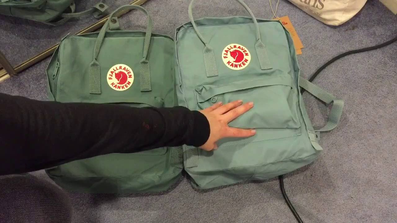 Comparing Fjallraven Kanken Classic In Frost Green And Sky