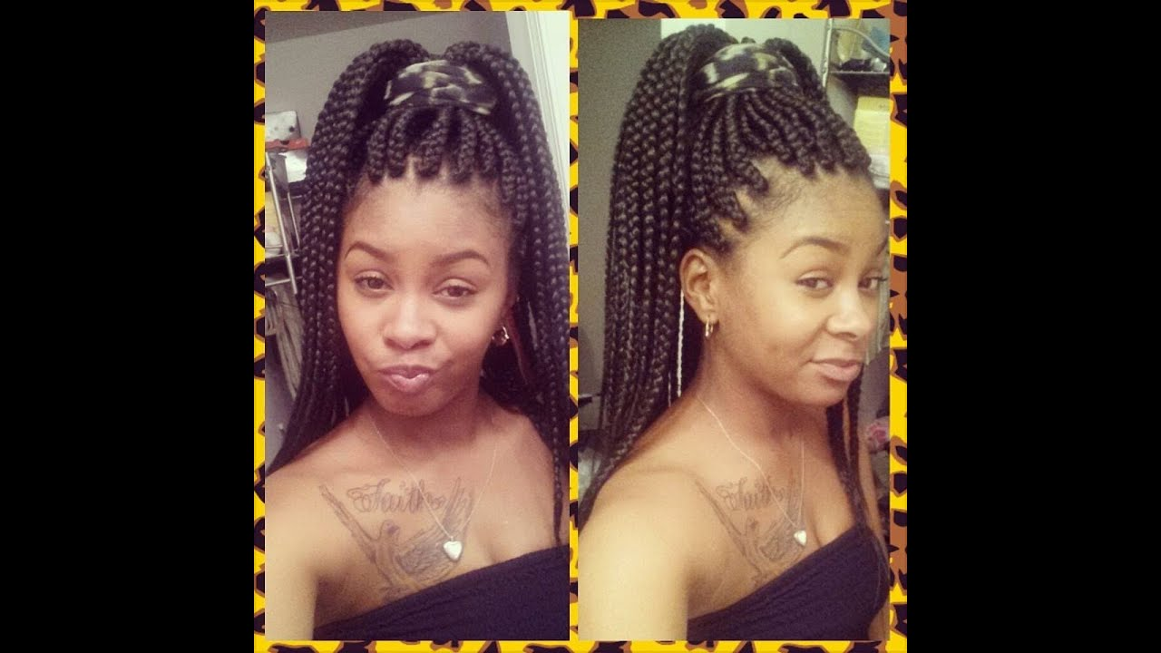 Large Box braids (Poetic Justice braids) - YouTube