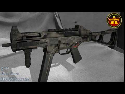 UMP-45 Scorched - Skin Wear Preview
