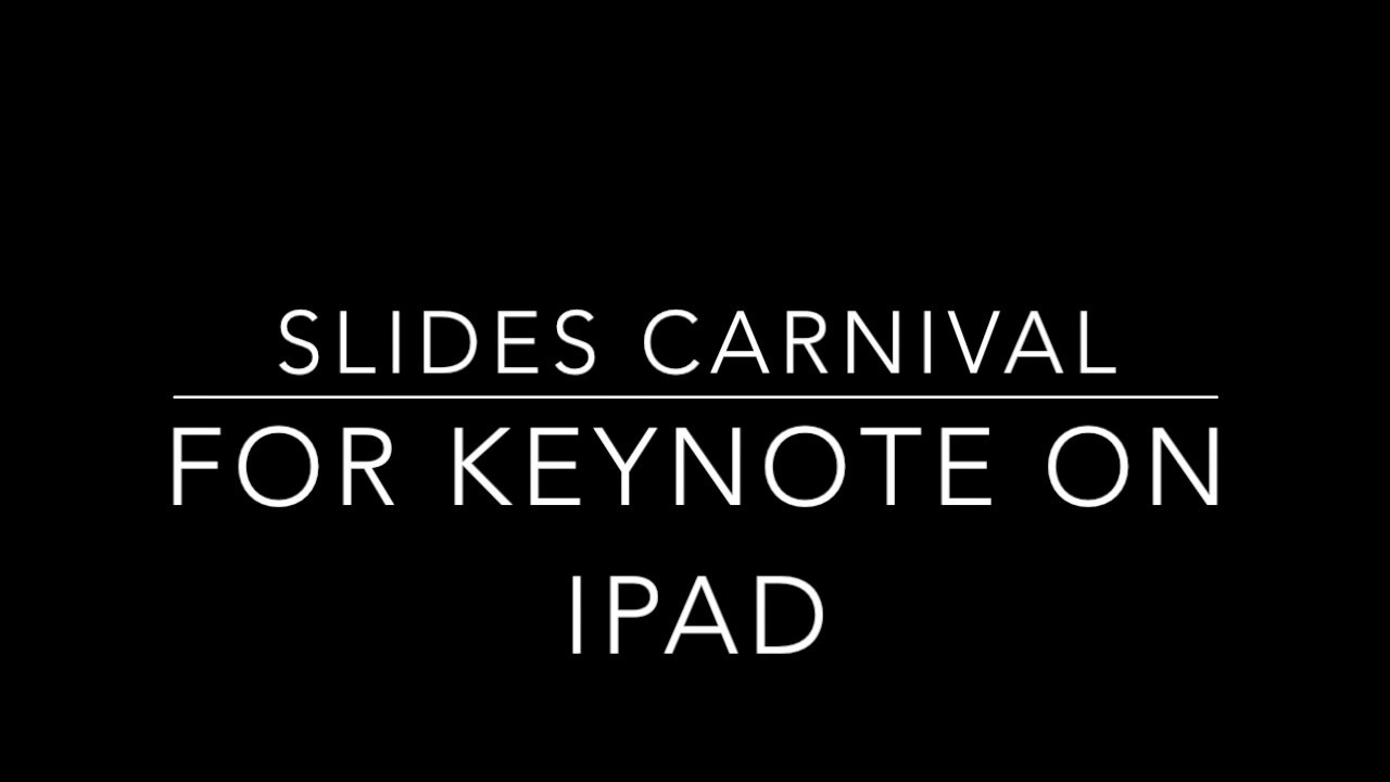 Slides Carnival for iPad