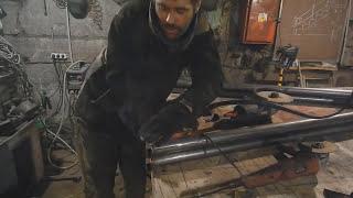 видео Качели из металла своими руками чертежи и фото