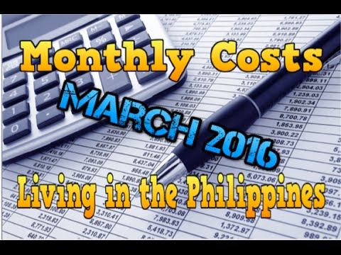 Monthly costs living in Cebu City, Philippines