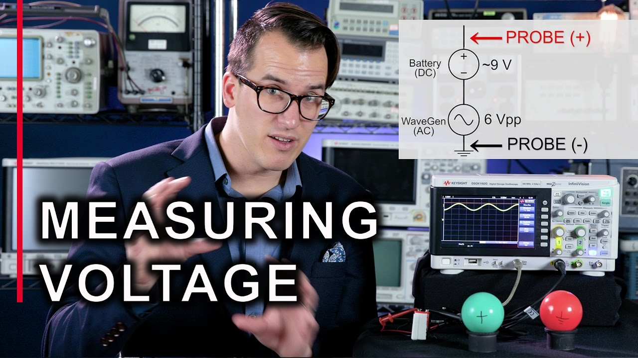 Measuring Voltage With An Oscilloscope The Keysight 2 Minute Guru 9 Volt Battery Circuit Diagram Current Howto