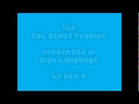 The Cub Scout Promise, in Sign Language - YouTube