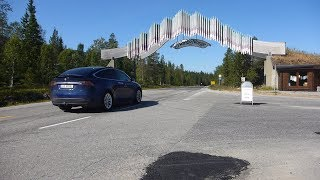 Tesla Model X 75D - Del 1 / Part 1: 4500 km til  Lofoten og Nordkapp / North Cape