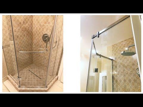 Как установить душ кабину стеклянный видео