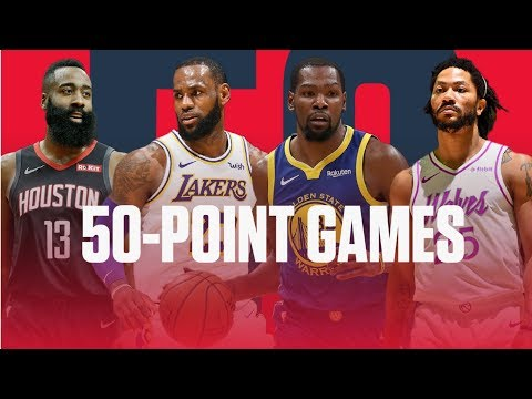 Every 50-point game of season: James Harden, LeBron, Derrick Rose & more  NBA Highlights