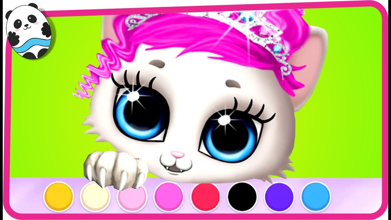 Kitty Meow Meow My Cute Cat Pet Care Kids Games Fun
