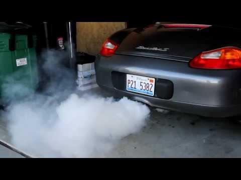 Porsche Boxster S 986 White Smoke on Startup