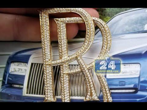 Custom diamond rolls royce car logo pendant youtube custom diamond rolls royce car logo pendant aloadofball Choice Image