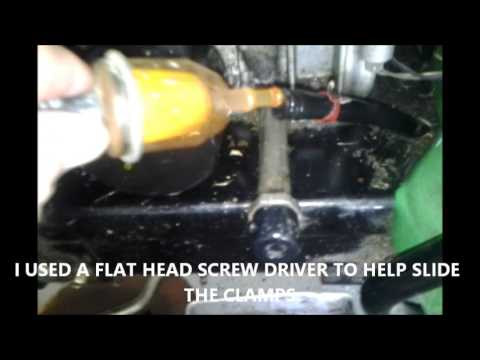 Replacing The Fuel Filter On A L130 John Deere Mower Youtube