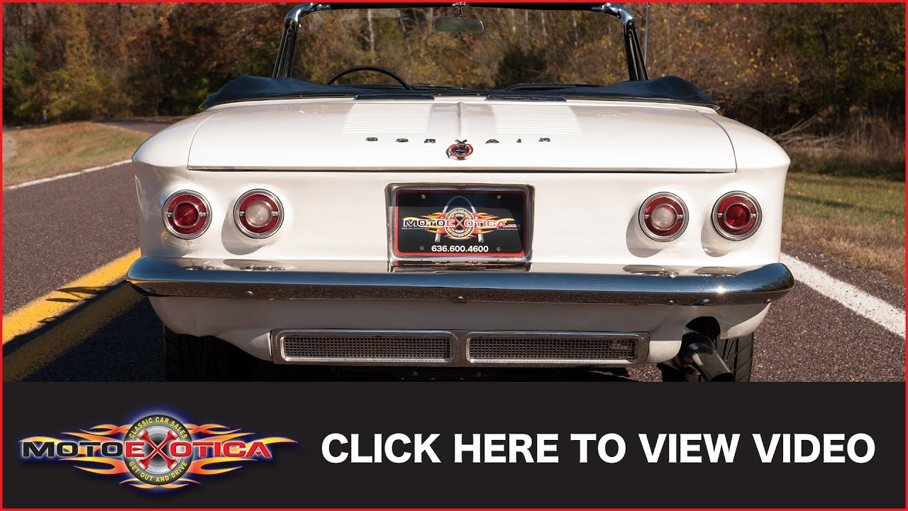 1964 Chevrolet Corvair Spyder Turbo Sold