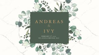 Holy Matrimony of Andreas and Ivy