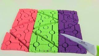 Đồ chơi Trẻ Em - Hướng Dẫn Làm Miếng Gạch Lego Duplo To Bằng Cát Động Lực  Màu Sắc - Bé Học Sắc Màu