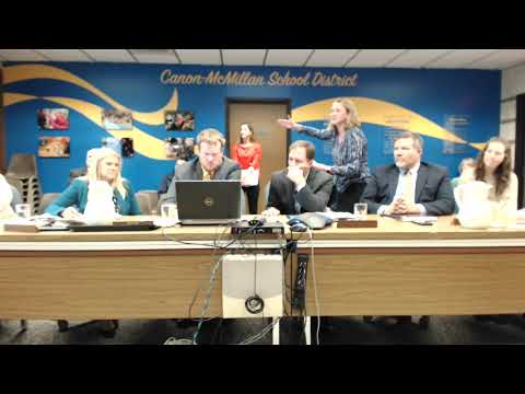 Canonsburg Middle School Presentation to the Board 10-25-18