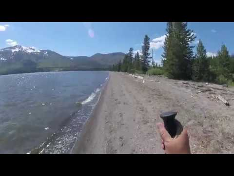 Fishing for native cutthroat in Yellowstone backcountry-Heart Lake