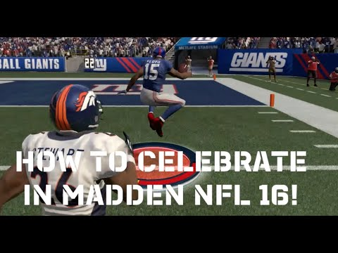 Madden 16 Tips - How To Celebrate a TD!