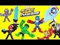 Marvel Super Hero Mashers Micro Captain America vs Iron Skull. Micro Mashers have a Funny Mashup.