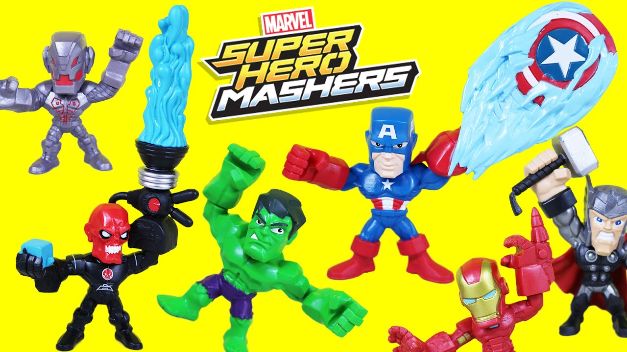 NEW MARVEL Super Hero Mashers Micro Captain America vs Iron Skull AVENGERS
