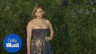 Jennifer Lopez wears dazzling ball gown to 2015 Tonys - Daily Mail