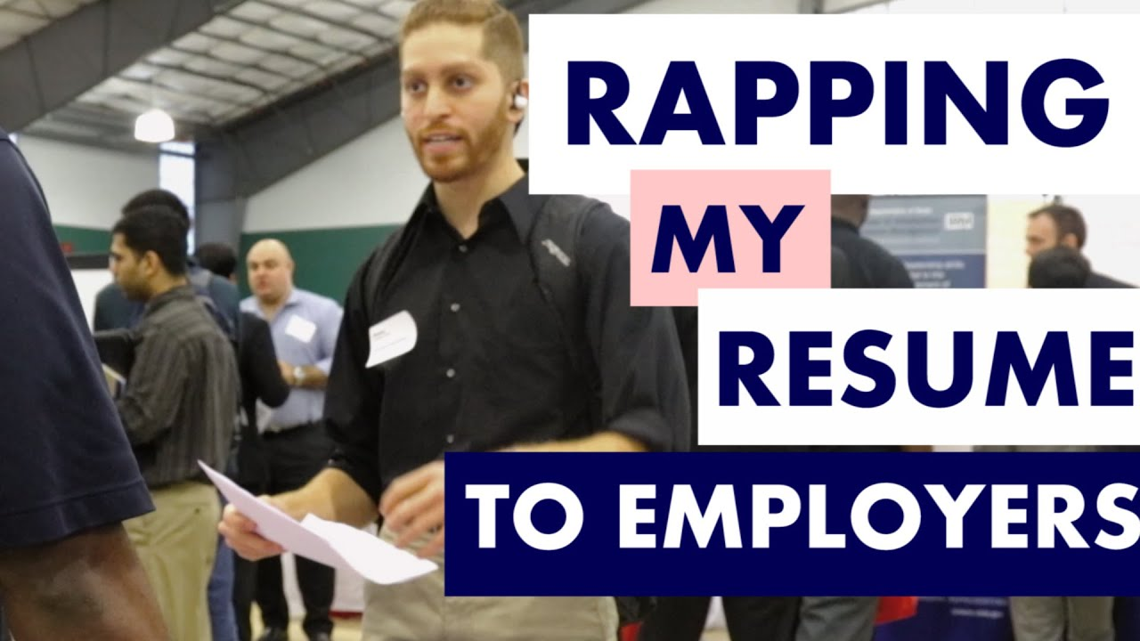 STUDENT RAPS RESUME AT CAREER FAIR - YouTube