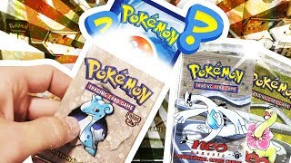 Opening 2x Neo Genesis 1st Edition + 1 HEAVY Fossil Pokemon Packs !!!