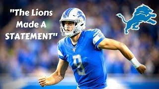 ESPN Shows The Lions RESPECT? Lions Made A STATEMENT! Detroit Lions Talk