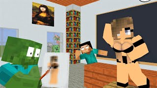 MONSTER SCHOOL : Drawing Challenge - Funny Minecraft Animation