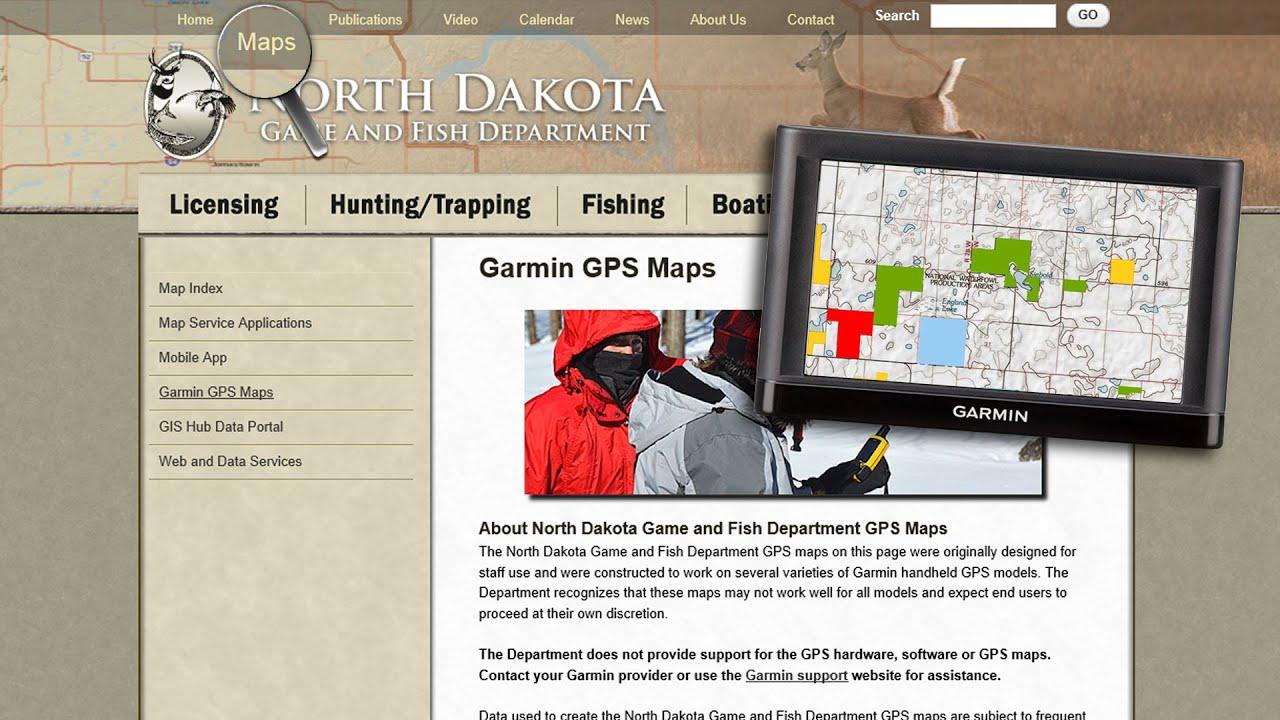 Garmin GPS Maps   North Dakota Game and Fish