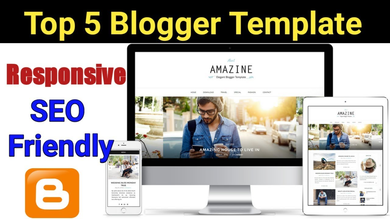 top 5 best free blogger template 2018 responsive seo friendly hindi