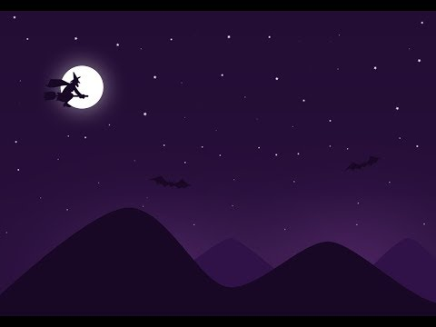 Design Tutorial : How to make simple flat night landscape wallpaper (Adobe Photoshop)