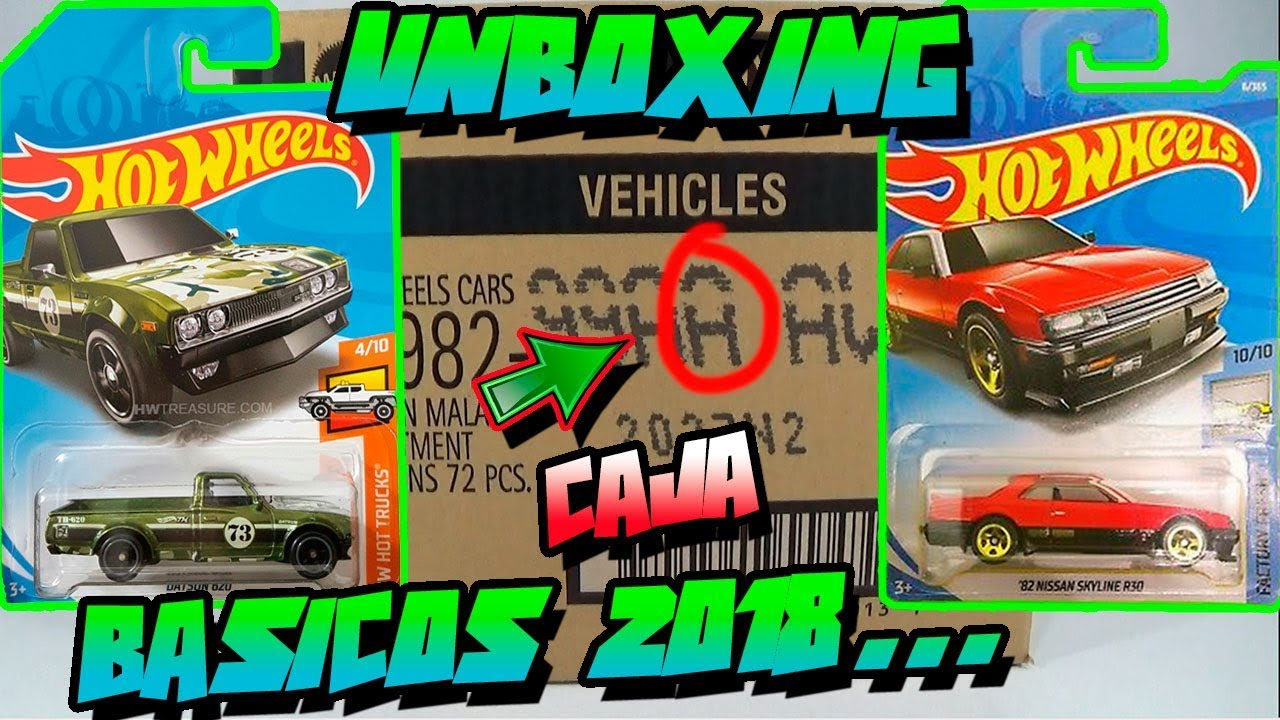 unboxing caja case a hot wheels b sicos 2018 first. Black Bedroom Furniture Sets. Home Design Ideas