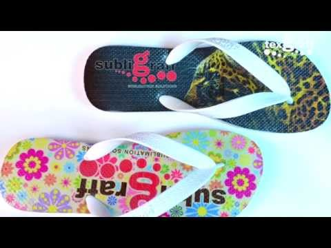 How to print / personalize / sublimate on Rubber Slippers / Flip Flops