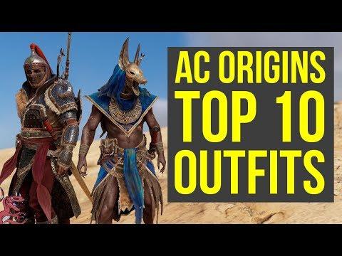 Assassin's Creed Origins All Outfits TOP 10 + All DLC Armor (AC Origins Outfits)