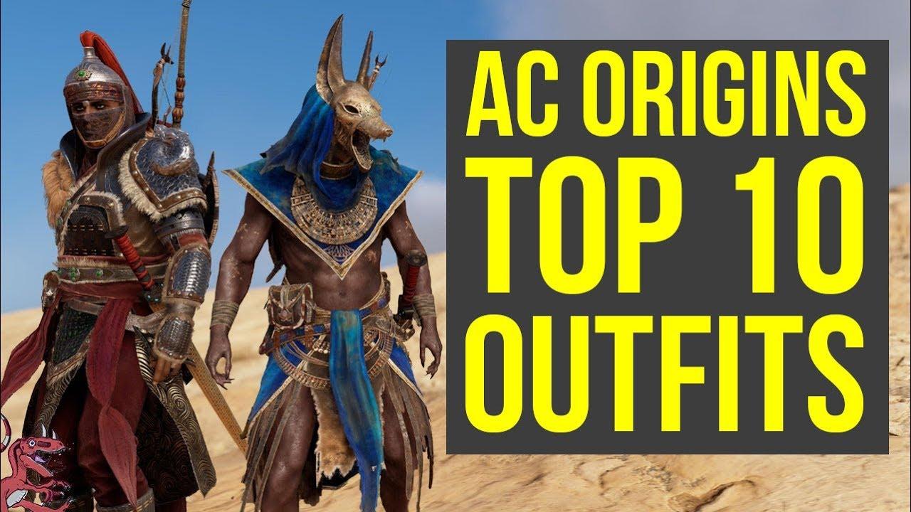 Assassinu0026#39;s Creed Origins All Outfits TOP 10 + All DLC Armor (AC Origins Outfits) - YouTube