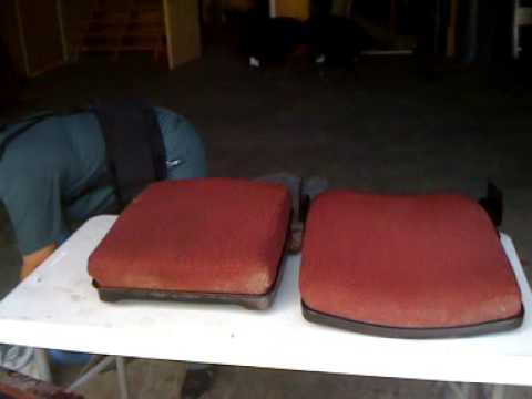 Cleaning A Dirty Theatre Chair - Part 1.mov