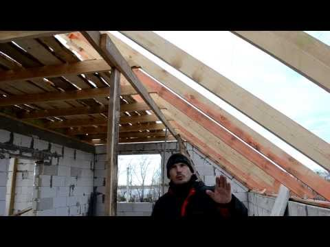 Мансарда  крыша  Ошибка установки стропил