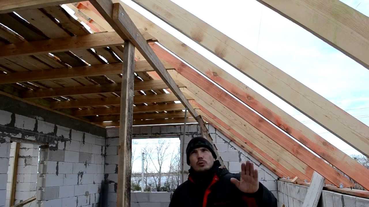 схема расчета длины стропил на крышу