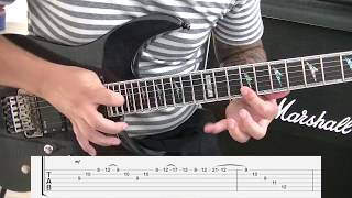 Canon Rock  Arpeggio - How To Play Funtwos Arpeggio Part - With Tabs (Speechless Guitar Lessons)