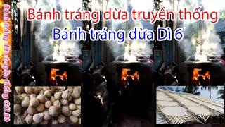 Bánh tráng dừa truyền thống ngày tết