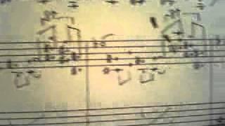 作曲家水野朋子の自筆譜 Tomoko Mizuno's Handwritten Score