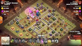 Town Hall 12 hogs bowlers and seige | 3 Star Attack Strategy | War Attack Strategy