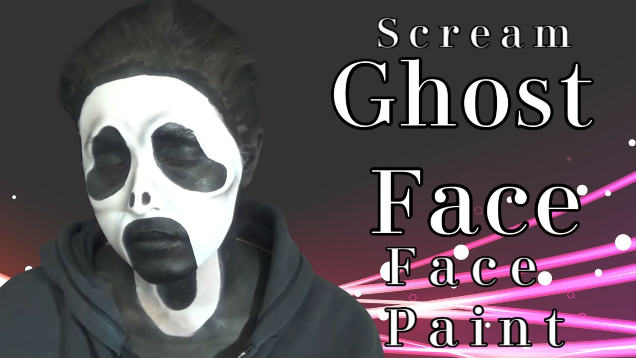 Ghostface Scream Mask Face Paint Makeup Tutorial